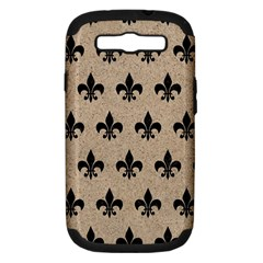 Royal1 Black Marble & Sand (r) Samsung Galaxy S Iii Hardshell Case (pc+silicone) by trendistuff