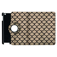 Scales1 Black Marble & Sand Apple Ipad 3/4 Flip 360 Case by trendistuff