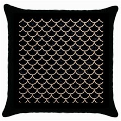 Scales1 Black Marble & Sand (r) Throw Pillow Case (black) by trendistuff