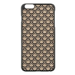 Scales2 Black Marble & Sand Apple Iphone 6 Plus/6s Plus Black Enamel Case by trendistuff
