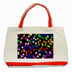 Colorful Rectangles On A Black Background                                 Classic Tote Bag (red) by LalyLauraFLM