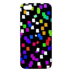 Colorful Rectangles On A Black Background                           Apple Ipod Touch 5 Hardshell Case With Stand by LalyLauraFLM