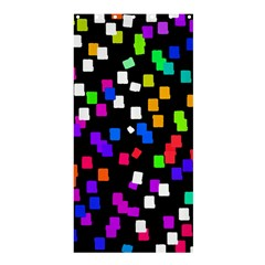 Colorful Rectangles On A Black Background                            Shower Curtain 36  X 72  by LalyLauraFLM