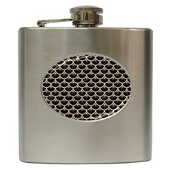 Scales3 Black Marble & Sand (r) Hip Flask (6 Oz) by trendistuff