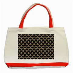 Scales3 Black Marble & Sand (r) Classic Tote Bag (red) by trendistuff