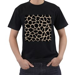 Skin1 Black Marble & Sand Men s T Shirt (black) (two Sided) by trendistuff