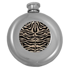 Skin2 Black Marble & Sand (r) Round Hip Flask (5 Oz) by trendistuff