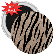 Skin3 Black Marble & Sand 3  Magnets (100 Pack) by trendistuff