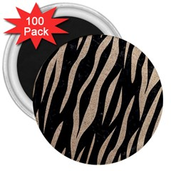 Skin3 Black Marble & Sand (r) 3  Magnets (100 Pack) by trendistuff