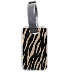Skin3 Black Marble & Sand (r) Luggage Tags (one Side)  by trendistuff