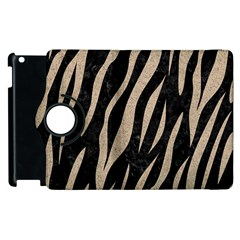 Skin3 Black Marble & Sand (r) Apple Ipad 3/4 Flip 360 Case by trendistuff