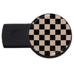 Square1 Black Marble & Sand Usb Flash Drive Round (4 Gb) by trendistuff