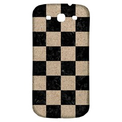 Square1 Black Marble & Sand Samsung Galaxy S3 S Iii Classic Hardshell Back Case by trendistuff