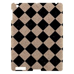 Square2 Black Marble & Sand Apple Ipad 3/4 Hardshell Case by trendistuff