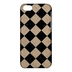 Square2 Black Marble & Sand Apple Iphone 5c Hardshell Case by trendistuff