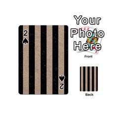 Stripes1 Black Marble & Sand Playing Cards 54 (mini)  by trendistuff