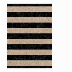 Stripes2 Black Marble & Sand Small Garden Flag (two Sides) by trendistuff