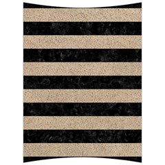 Stripes2 Black Marble & Sand Back Support Cushion by trendistuff
