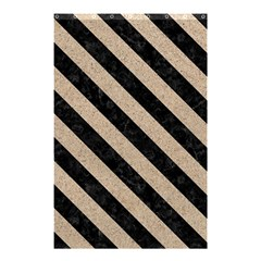 Stripes3 Black Marble & Sand Shower Curtain 48  X 72  (small)  by trendistuff