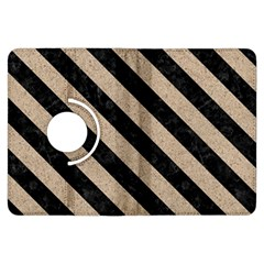 Stripes3 Black Marble & Sand Kindle Fire Hdx Flip 360 Case by trendistuff