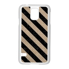 Stripes3 Black Marble & Sand Samsung Galaxy S5 Case (white) by trendistuff