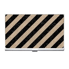 Stripes3 Black Marble & Sand (r) Business Card Holders by trendistuff