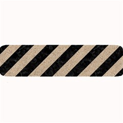 Stripes3 Black Marble & Sand (r) Large Bar Mats by trendistuff