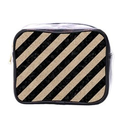 Stripes3 Black Marble & Sand (r) Mini Toiletries Bags by trendistuff