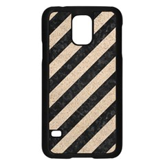 Stripes3 Black Marble & Sand (r) Samsung Galaxy S5 Case (black) by trendistuff