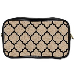 Tile1 Black Marble & Sand Toiletries Bags by trendistuff