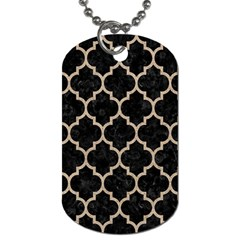 Tile1 Black Marble & Sand (r) Dog Tag (two Sides) by trendistuff