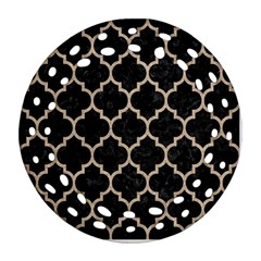 Tile1 Black Marble & Sand (r) Round Filigree Ornament (two Sides) by trendistuff
