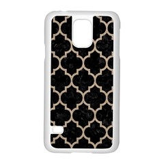 Tile1 Black Marble & Sand (r) Samsung Galaxy S5 Case (white) by trendistuff