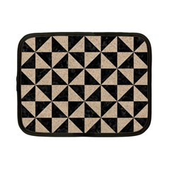 Triangle1 Black Marble & Sand Netbook Case (small)  by trendistuff