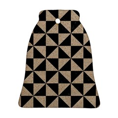 Triangle1 Black Marble & Sand Bell Ornament (two Sides) by trendistuff
