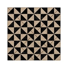 Triangle1 Black Marble & Sand Acrylic Tangram Puzzle (6  X 6 ) by trendistuff