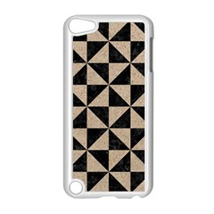 Triangle1 Black Marble & Sand Apple Ipod Touch 5 Case (white) by trendistuff