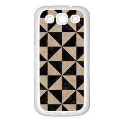 Triangle1 Black Marble & Sand Samsung Galaxy S3 Back Case (white) by trendistuff