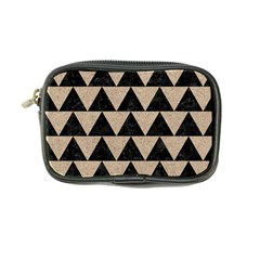 Triangle2 Black Marble & Sand Coin Purse by trendistuff