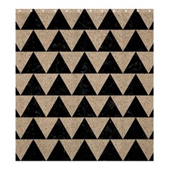 Triangle2 Black Marble & Sand Shower Curtain 66  X 72  (large)  by trendistuff
