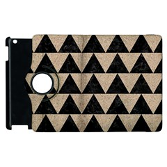 Triangle2 Black Marble & Sand Apple Ipad 3/4 Flip 360 Case by trendistuff