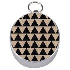 Triangle2 Black Marble & Sand Silver Compasses