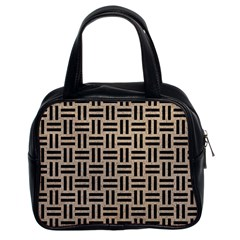 Woven1 Black Marble & Sand Classic Handbags (2 Sides) by trendistuff
