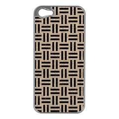 Woven1 Black Marble & Sand Apple Iphone 5 Case (silver) by trendistuff