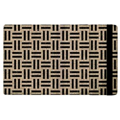Woven1 Black Marble & Sand Apple Ipad 3/4 Flip Case by trendistuff