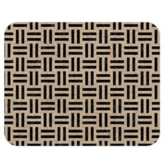 Woven1 Black Marble & Sand Double Sided Flano Blanket (medium)  by trendistuff