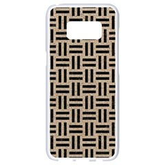 Woven1 Black Marble & Sand Samsung Galaxy S8 White Seamless Case by trendistuff