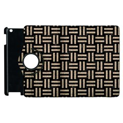 Woven1 Black Marble & Sand (r) Apple Ipad 3/4 Flip 360 Case by trendistuff