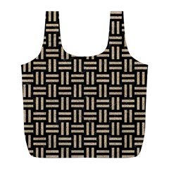 Woven1 Black Marble & Sand (r) Full Print Recycle Bags (l)  by trendistuff