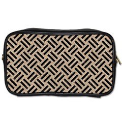 Woven2 Black Marble & Sand Toiletries Bags by trendistuff